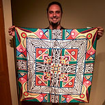 Adam Millward Mandala Artist Mandala Art Silk Scarf For Sale