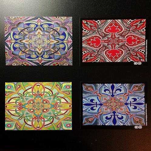4 5 x 7 inch Mandala prints (unsigned)