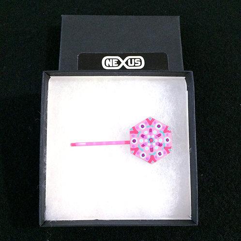 """Hair Pin #26 - 1.25"""" Hexagonal Mandala"""