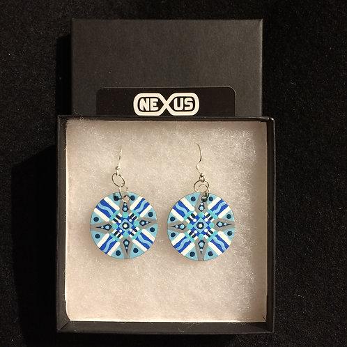 "Earrings #8 - 1.25"" Round Mandalas"