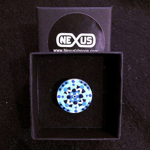 "Ring #1 - .75"" Round Mandala"