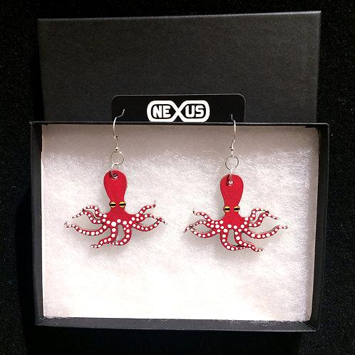 """Earrings #12 - 2.25"""" Octopus"""