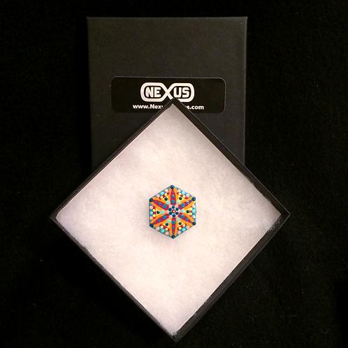 """Pin #12 - 1.25"""" Hexagonal  Mandala"""