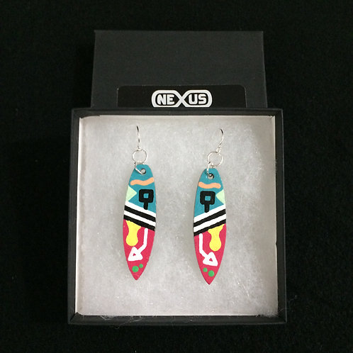 """Earrings #15 - 2.25"""" Square Tail Surfboards"""