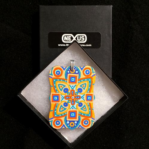"""Pendant #166 - 3"""" Mandala - Rectangular Plaque"""