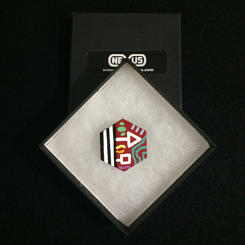 "Brooch Pin #23 - 1.75"" Hexagonal"