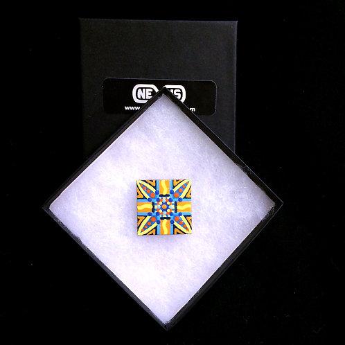 "Pin #7 - 1.25"" Square Mandala"