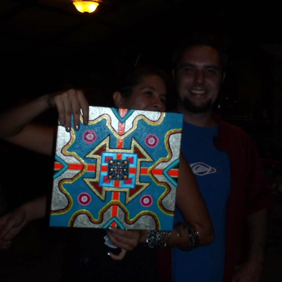 A Happy Mandala Art Patron