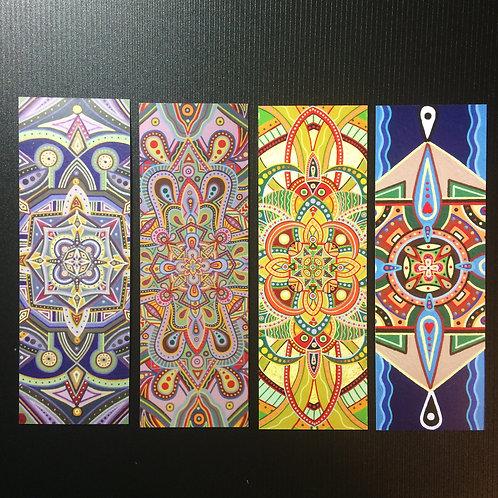 Mandala Bookmarks - set of 4