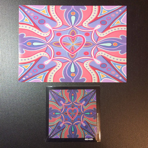 """Waves of Love"" 5 x 7 inch print + sticker"