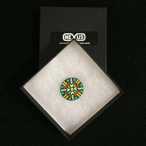 "Pin #27 - 1.25"" Round Mandala"