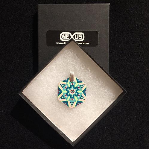 """Pendant #178 - 1.75"""" Hexagonal Mandala"""