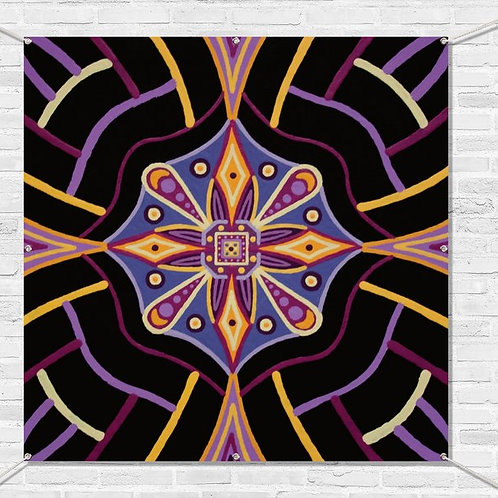 """""""PASSION VIBE"""" - 48"""" x 48"""" with eyelets"""