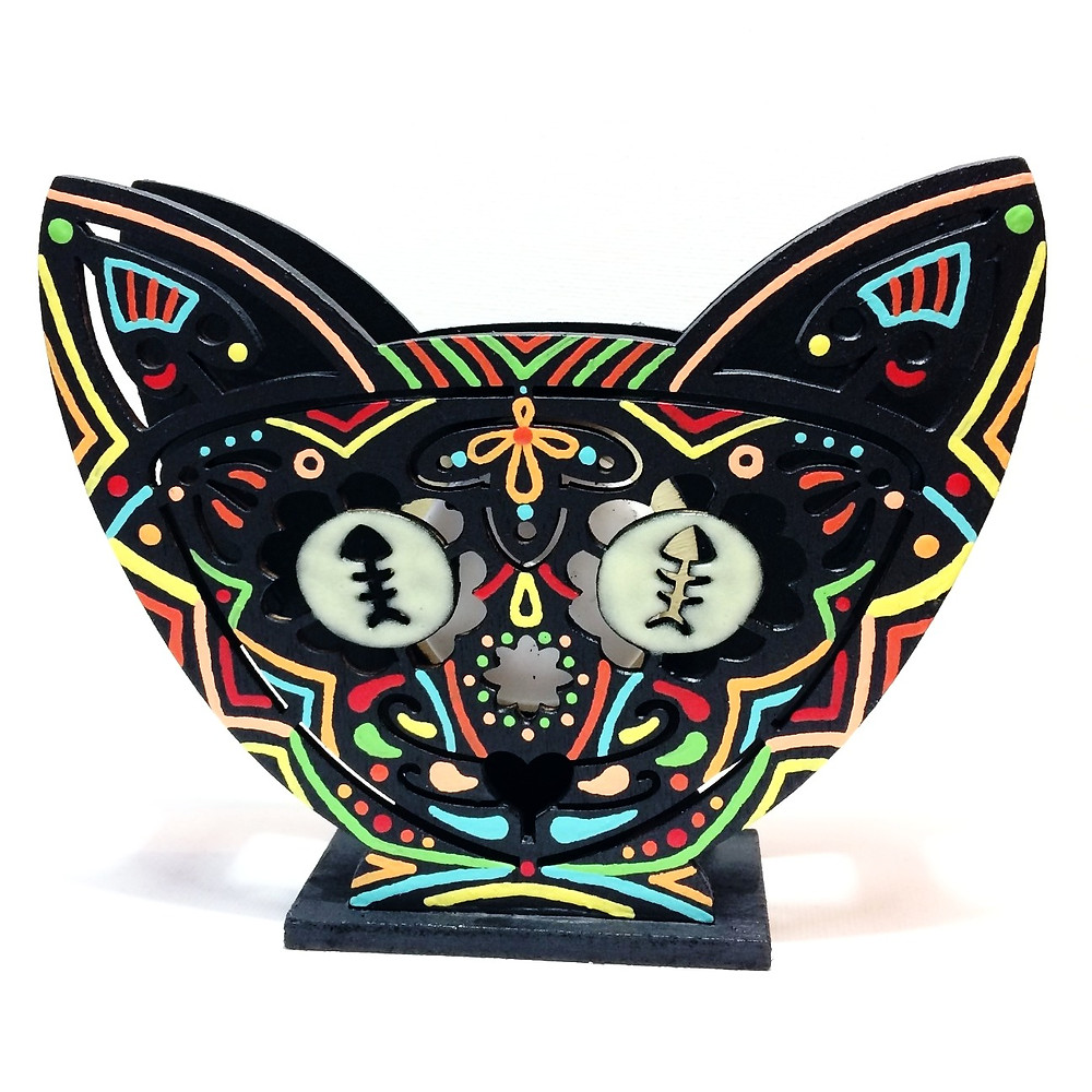 Hallow-Kitty Night Light by Adam Millward Art