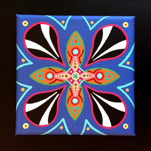 """BLAST OFF"" - 6 x 6 inch acrylic painting"
