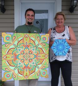A Happy Mandala Art Patron