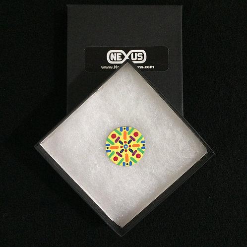 "Pin #29 - 1.25"" Round Mandala"