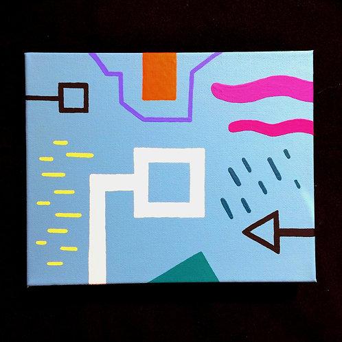 """SKY-FI"" - 8 x 10 inch acrylic painting"