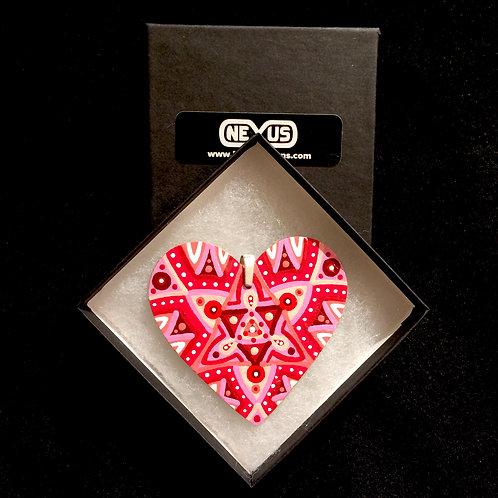 """Pendant #194 - 2.75"""" Heart Mandala"""