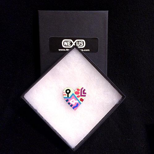 "Pin #4 - 1.25"" Heart"