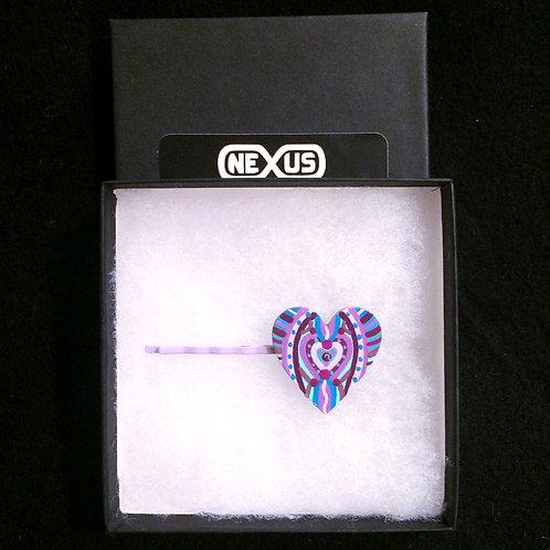"""Hair Pin #6 - 1.25"""" Heart Mandala"""