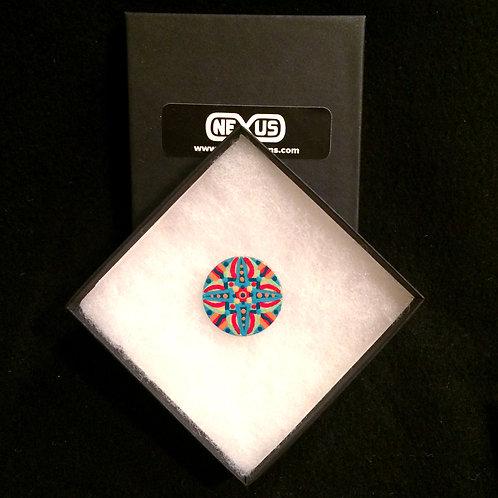 "Pin #10 - 1.25"" Round Mandala"