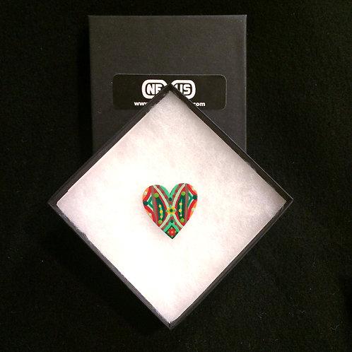 """Pin #3 - 1.25"""" Heart Mandala"""
