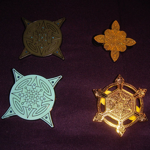 SET OF 4 PINS