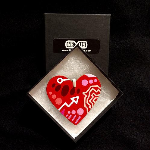 "Pendant #188 - 2.75"" Heart"