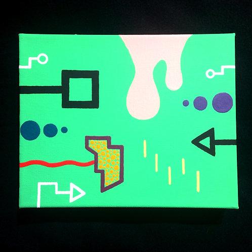 """WATERMELON BUBBLEGUM"" - 8 x 10 inch acrylic painting"