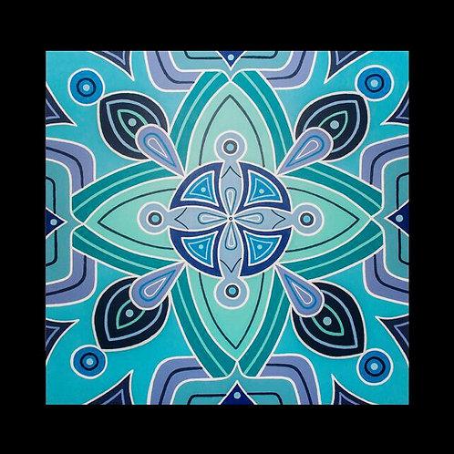 """PORTAL"" - 48 x 48 inch acrylic painting"