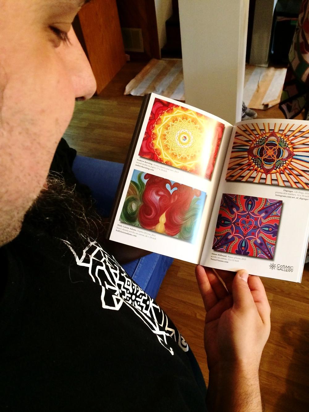 "Adam Millward ""Waves of Love"" Mandala Art featured in CoSM's Journal of Visionary Culture"