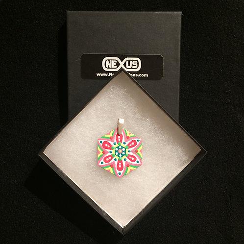 """Pendant #176 - 1.75"""" Hexagonal Mandala"""
