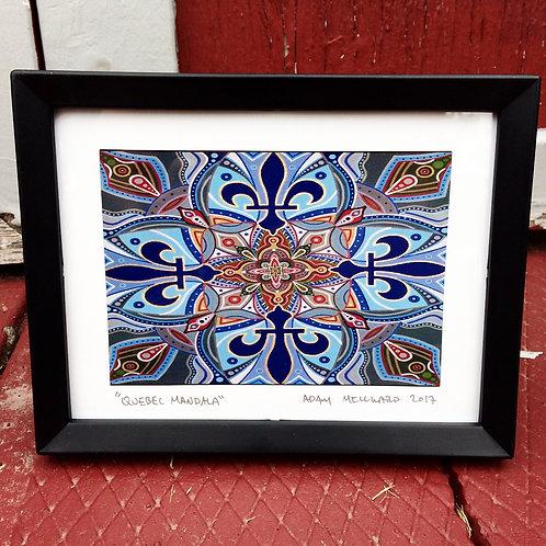 Quebec Mandala signed, framed 5 x 7 print
