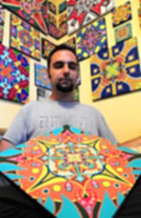 Mandala Artist Adam Millward Mandala Paintings