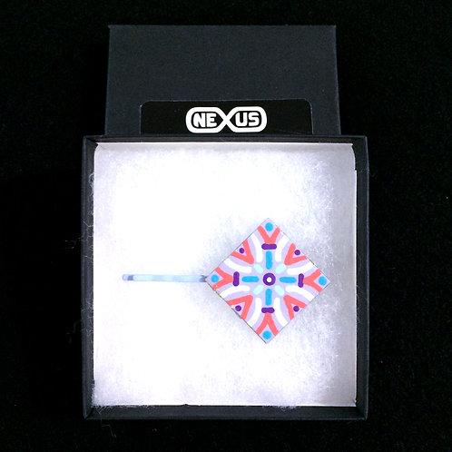 """Hair Pin #18 - 1.25"""" Diamond Mandala"""