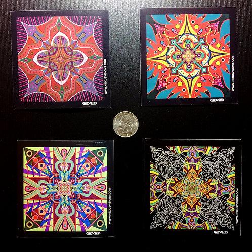 4 Vinyl Stickers (Set #2)