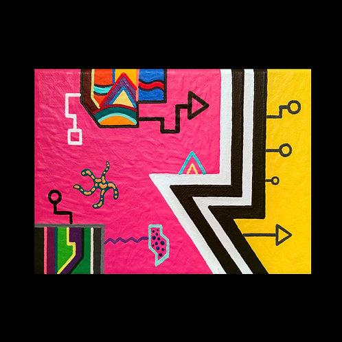 """BUBBLEMON"" 5 x 7 acrylic painting"