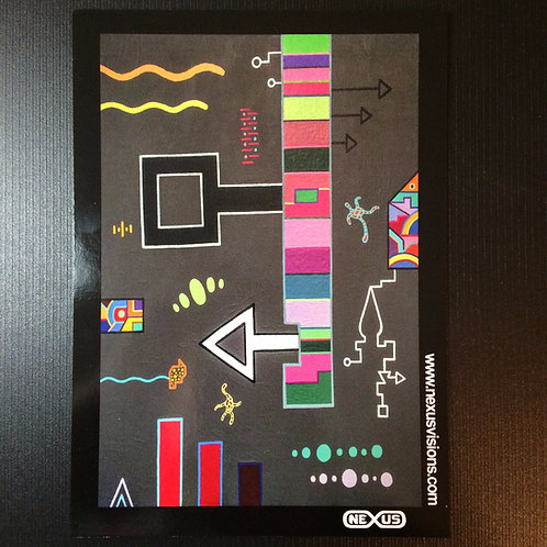 """Ladder Key"" 5 x 7 signed print"