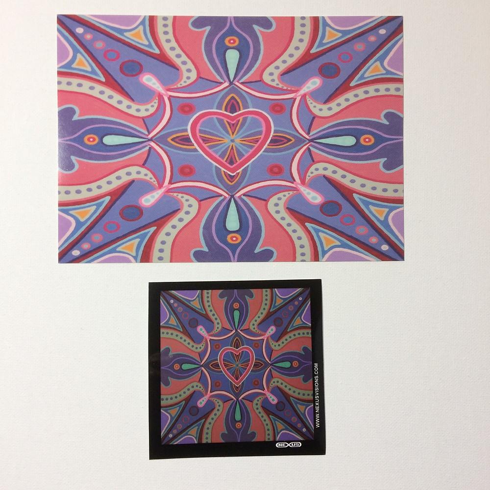 """Waves of Love"" Mandala Print & Sticker"