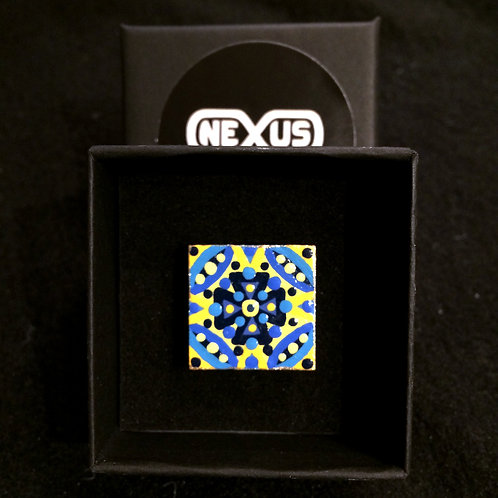 """Ring #5 - .75"""" Square Mandala"""