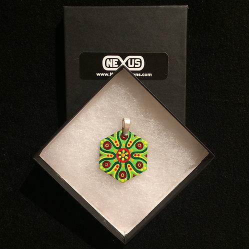 """Pendant #179 - 1.75"""" Hexagonal Mandala"""