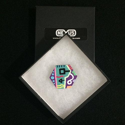 "Brooch Pin #24 - 1.75"" Hexagonal"