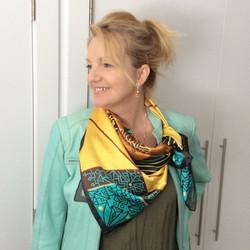 Adam Millward Mandala silk scarf