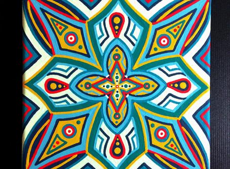 "🎨 Fresh Paint! ""Higher Healing"" Mandala"