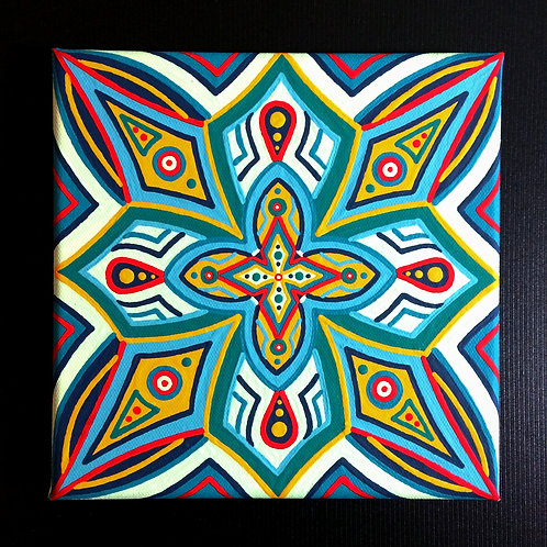 """HIGHER HEALING"" - 8 x 8 inch acrylic painting"