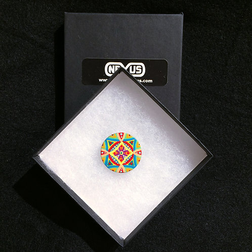 "Brooch Pin #14 - 1.25"" Round Mandala"