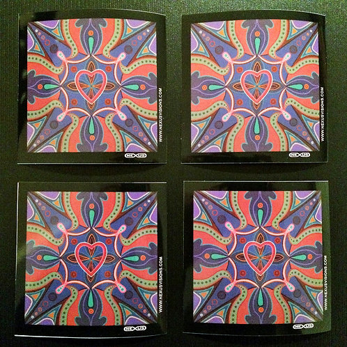 """Waves of Love"" vinyl stickers (4)"