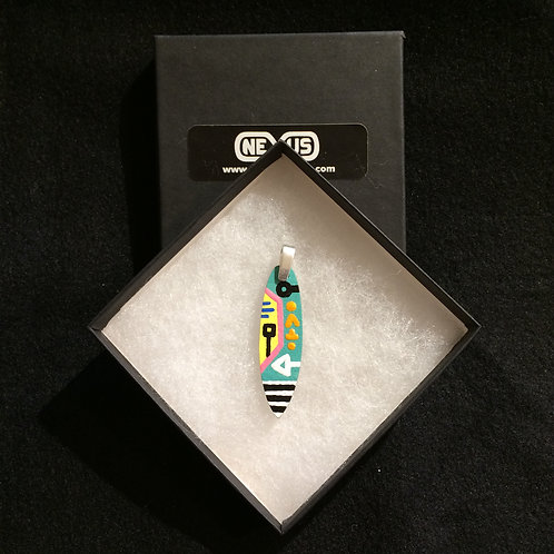 """Pendant #206 - 2.25"""" Square Tail Surfboard"""