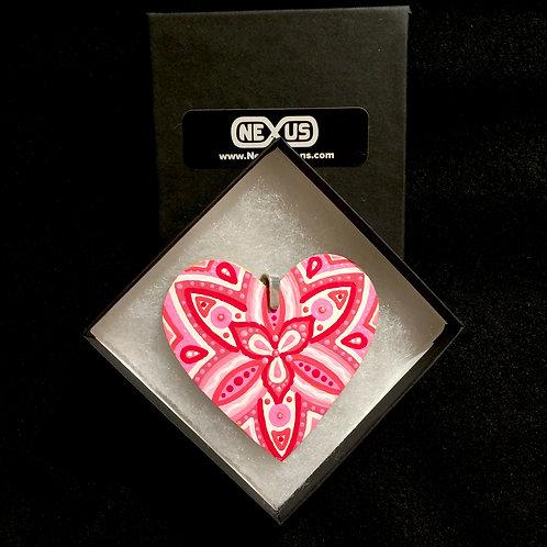 """Pendant #195 - 2.75"""" Heart Mandala"""